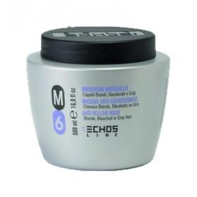 Maschera M6 antigiallo per capelli biondi decolorati o grigi 500 ml Echosline